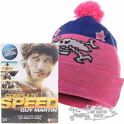 Guy Martin Complete Speed DVD & Ltd Edition 1277c Bobble Hat Beanie