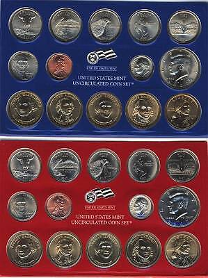 2007 P & D United States Mint Uncirculated Coin Set Business Strike Clad