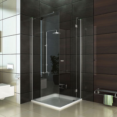 rahmenlos design dusche eck duschabtrennung hochwertige esg duschkabine 100x100 eur 499 90. Black Bedroom Furniture Sets. Home Design Ideas