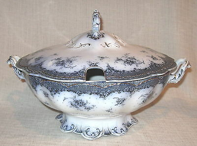 Alfred Meakin Grosvenor Flow Blue Soup Tureen