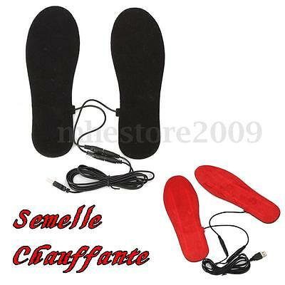 Hot Men Women USB Electric Powered Heated Insoles For Shoes Boots Keep Feet Warm