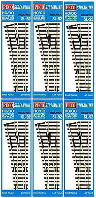 Peco Code 100 Oo/ho Insulfrog Small Radius Left Hand Point Bulk 6 Pack Pesl92B