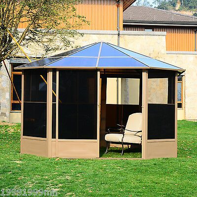 Outsunny 13' Patio Gazebo Screen Room Party Tent Panels Shelter Outdoor Canopy