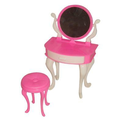Random Dolls House Furniture Dressing Table and Chair for 29cm Dolls