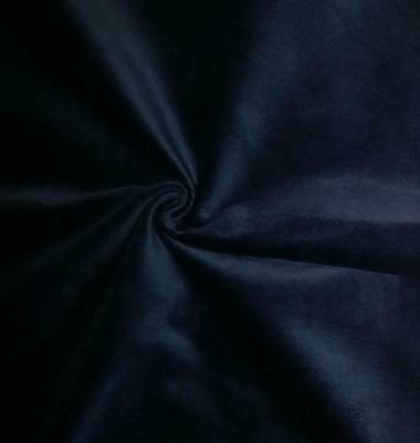 Blue Cotton Velvet Velour Fabric Upholstery Drapery Sold by The Yard 54 in Wide