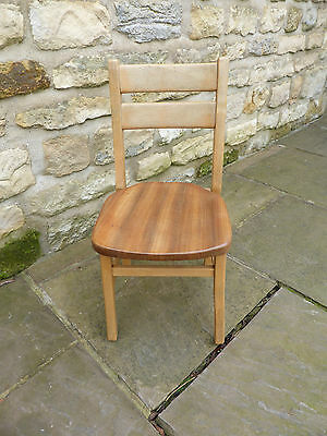 Vintage Child's School Chair. Beech with Mahogany Seat