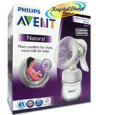 Philips Avent Comfort Natural Manual Breast Pump & Bottle BPA Free SCF330/20
