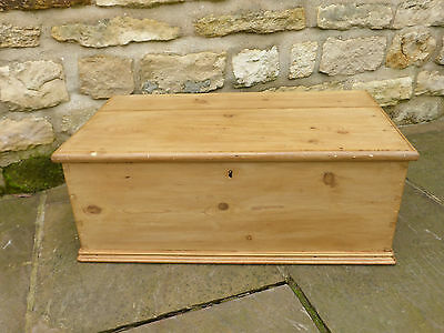 Victorian Pine Box  Original with Blacksmith Made Hinges