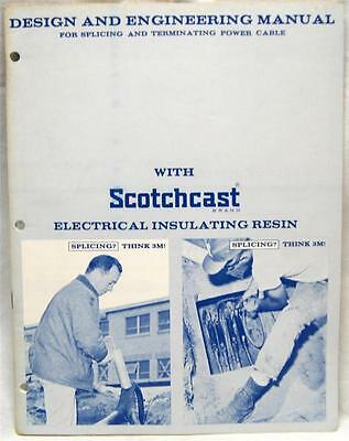 3M SCOTCH CAST ELECTRICAL INSULATING RESIN ENGINEERING MANUAL 1960s VINTAGE