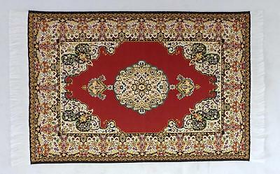 Dolls House Miniature Victorian Carpet 1:12 Flooring Large Woven Turkish Rug A