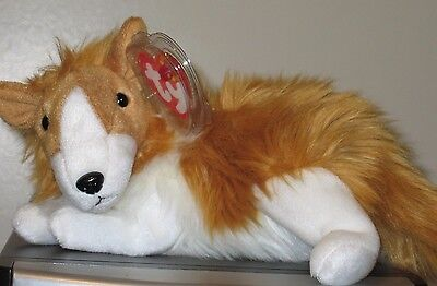 Ty Beanie Baby ~ CASSIE the Collie Dog ~ MINT with MINT TAGS ~ RETIRED