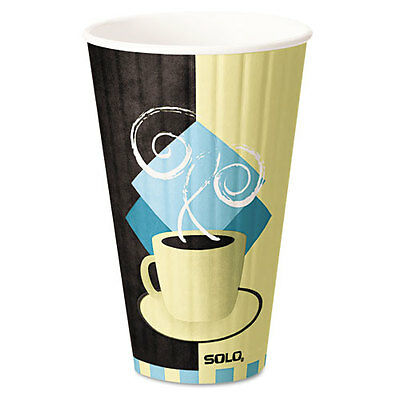 """Duo Shield Hot Insulated 20oz Paper Cups, Beige, 350/carton"""