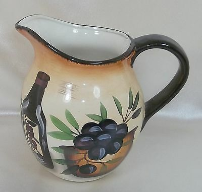 Tuscan Style Watering Pitcher Hand Painted with Jar - Olives & Garlic -  Casino
