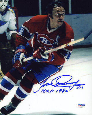 f1b8df54330 Yvan Cournoyer SIGNED 8x10 Photo HOF 1982 Montreal Canadiens PSA/DNA  AUTOGRAPHED