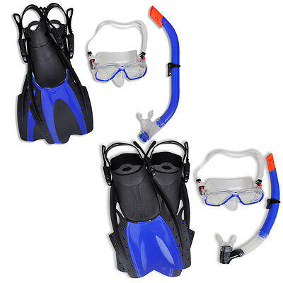 New Diving Set Snorkel Mask Flippers Set Scuba Diving Swimming Goods 4 Sizes