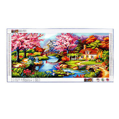 LARGE DIY Diamond Painting Cross Stitch Kit Full Rhinestone Spring Landscape