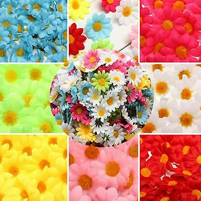 50/100x Artificial Gerbera Daisy Silk Flowers Heads Wedding Party Decor Home DIY