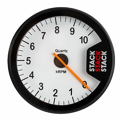 Stack ST200 Clubman Tachometer/Rev Gauge 0-10,000 Rpm White Dial Face BEC