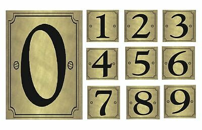 High Visible Gold Wheelie Bin Self Adhesive Numbers Stickers Home Hotel Dustbins