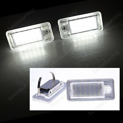 2pcs Audi LED Licence Number Plate Light No Error A3 8P RS3 A4 S4 A6 S6 4F A8 Q7