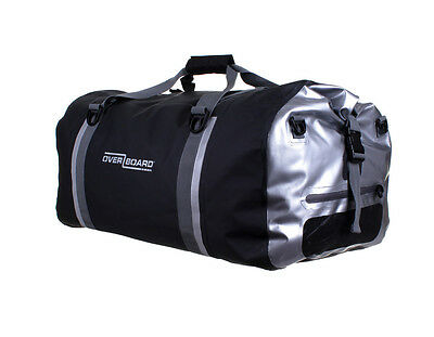 OVERBOARD Pro-Sports Waterproof Duffel Bag - 90 Litres Black/Silver Reflective