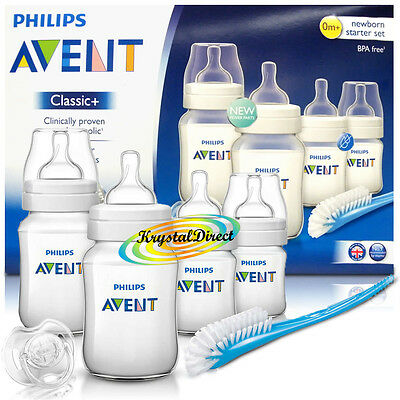 Philips AVENT SCD371/00 Classic+ Anti-Colic Newborn Starter Set Baby Bottles