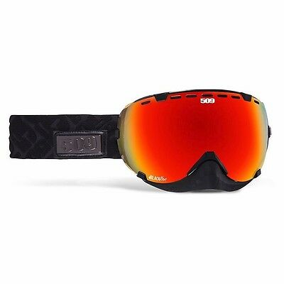 509 Aviator Snow Snowmobile Goggles - Black Fire - Fire Mirror with Rose Tint