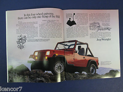 1989 Chrysler The Jeep Book Sales Brochure C7749