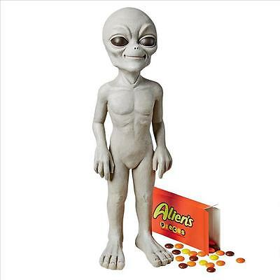 UFO Extra Terrestrial Roswell Alien Other Worldly Little Gray Statue - Small