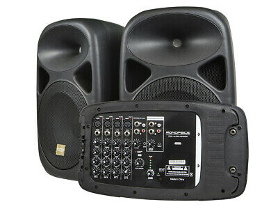 Monoprice PA SystemWith Two 10-Inch Speakers, 8-channel, 130 Watt