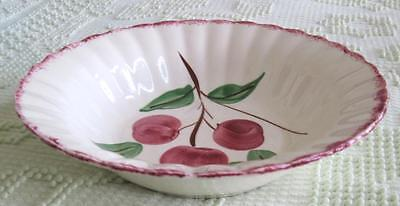 """Blue Ridge Southern Potteries Cherry Bounce 9.5"""" Round Bowl on Colonial Shape #2"""