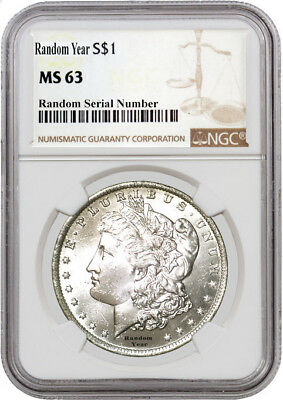 1878-1904 Random Year $1 Morgan Silver Dollar NGC MS64