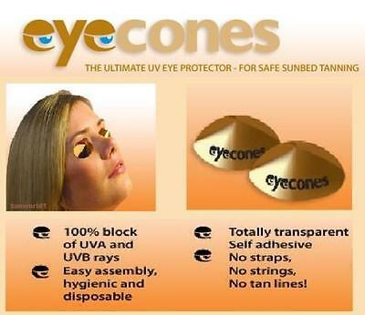 Disposable Stick on SunBed Solarium Tanning Eye Protection Cone/Shield Goggles