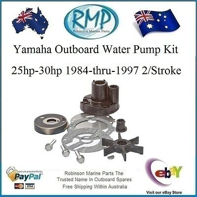 A Brand New Water Pump Kit Suits Yamaha 25hp-30hp 1984-1992 # R 689-W0078 H