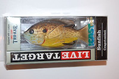 "koppers live target surface lure sunfish 3"" 7/16oz copper pumpkinseed sfh75t558"