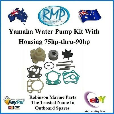 1 x New Water Pump Kit Suits Yamaha Outboards 75hp-thru-90hp # R 688-W0078 H