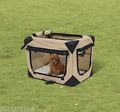 """PawHut 40.2"""" Pet Soft Kennel Crate Cage Travel Carrier Dog Cat House Portable"""