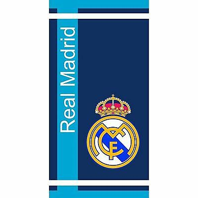 Real Madrid Cf Blue Stripe Towel Official Cotton Kids Football Fan Free P+P