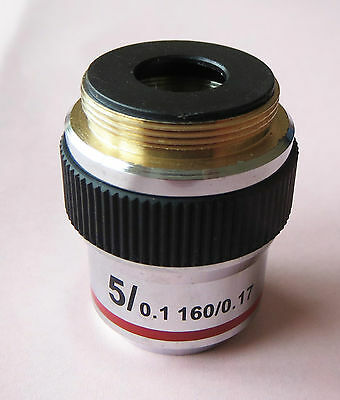 Rarely Available 5x Achromatic DIN Objective for Biological Microscope NEW CASED