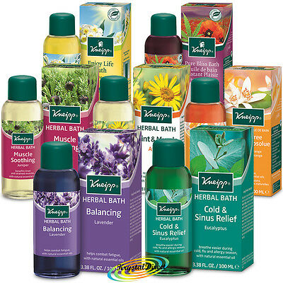 Kneipp Herbal Bath Oil 100ml With Natural Essential Oils Kniepp