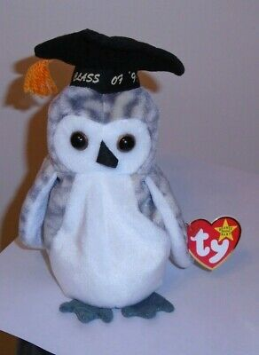 Ty Beanie Baby ~ WISER the 1999 Graduation Owl ~ MINT with MINT TAGS ~ RETIRED