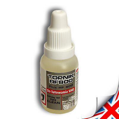 2 x Soldering flux Liquid 15ml oiler - SMD No Clean Top Quality UK Seller