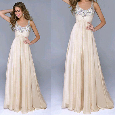Womens Long Sexy Evening Party Ball Prom Gown Formal Bridesmaid Cocktail Dress