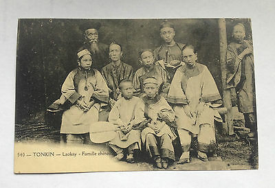 CPA TONKIN Laokay Famille Chinoise Chinese Family Old  Postcard Vietnam 1900