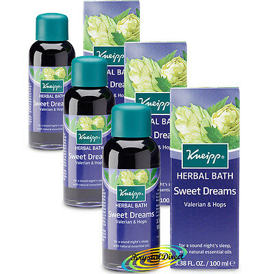 3x Kneipp Herbal Bath Oil Sweet Dreams VALERIAN & HOPS 100ml