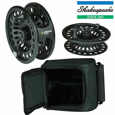 SHAKESPEARE SIGMA FLY FISHING REEL SPARE SPOOL & CASE SIZE #6/7 or #7/8
