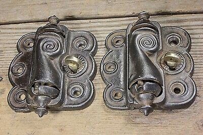 2 vintage Screen Door Hinges quick release old Victorian self closing spring