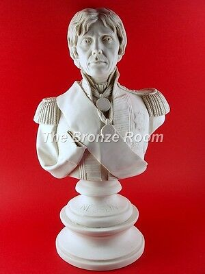 Marble Bust Sculpture Of Nelson - Made In England