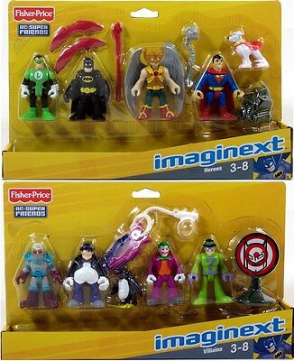 Fisher-Price Imaginext DC SUPER FRIENDS LOT OF 2! HEROES & VILLAINS SET 10 Figs!