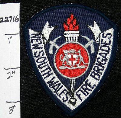 """Australia, New South Wales Fire Brigades 3.25"""" Patch"""